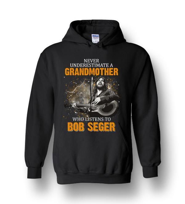 Mens Bob Seger Long Sleeve Hooded Sweat Shirt Pullover